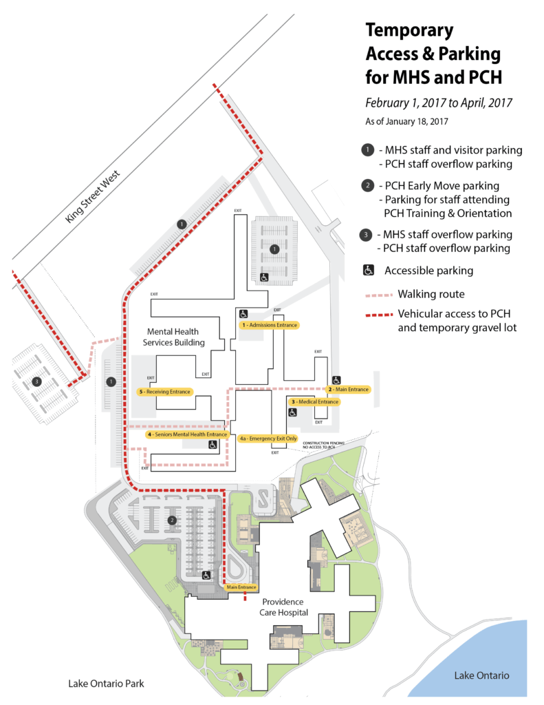 Image: Map of Parking Lots at Mental Health Services