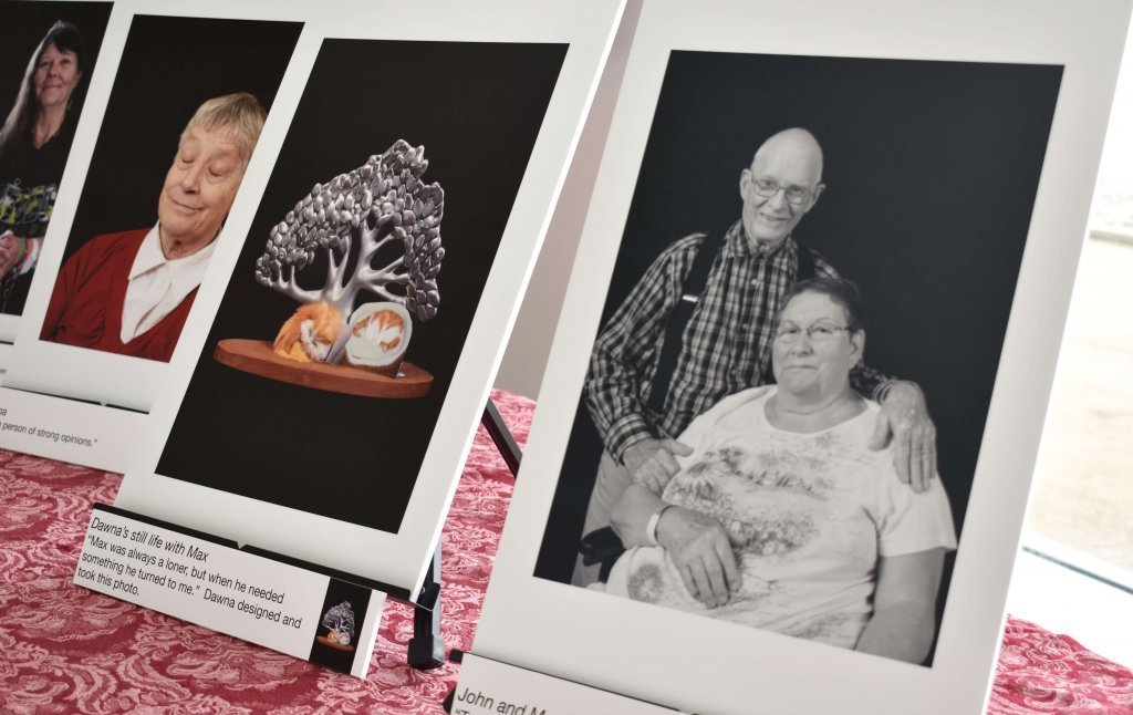 Local photographer Chris Miner recently displayed a collection of 24 portraits at Providence Care Hospital.